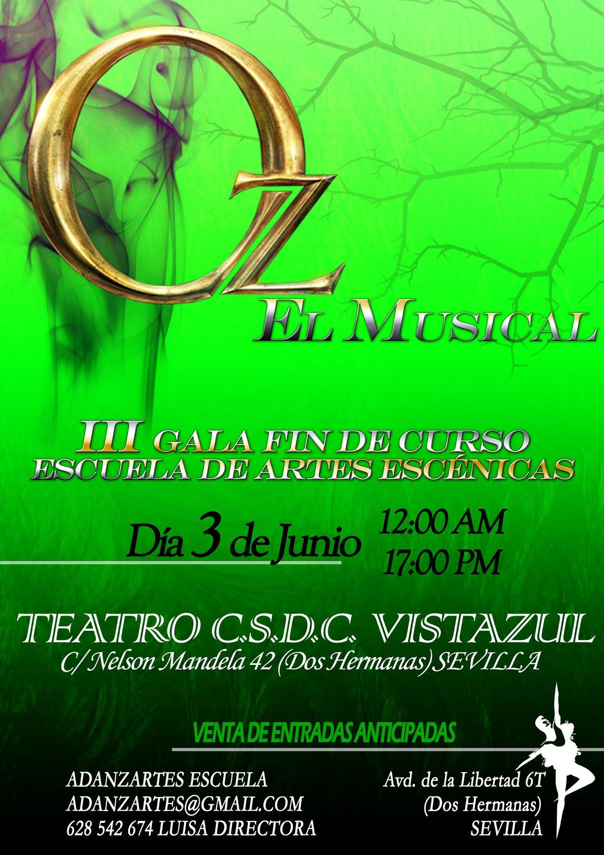 Oz El Musical de Escuela Adanzartes como fin de curso