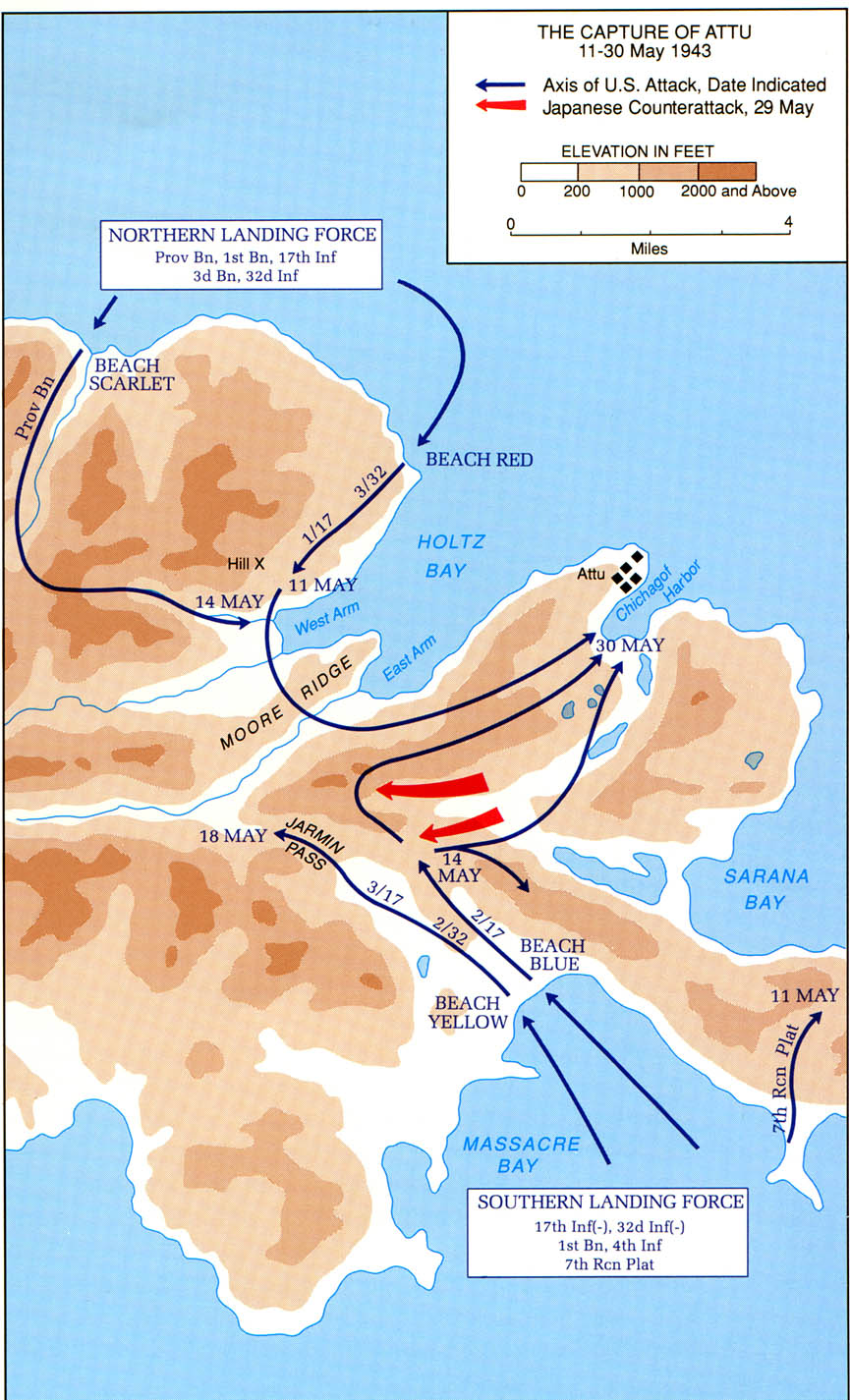 The Battle of Attu, Alaska, March 11-30, 1943.