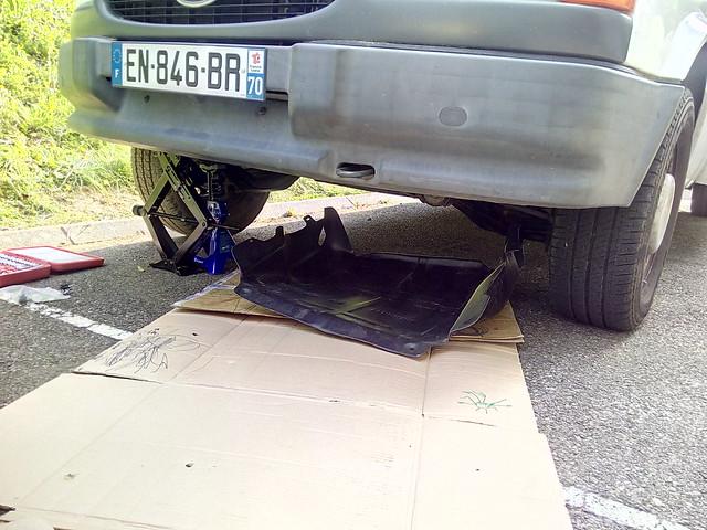 installation de la protection moteur et test du cric