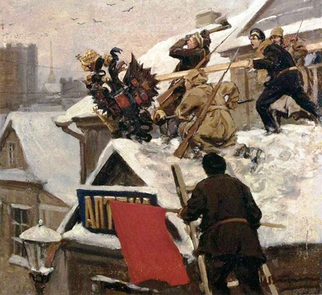 俄国内战与革命的写实绘画03