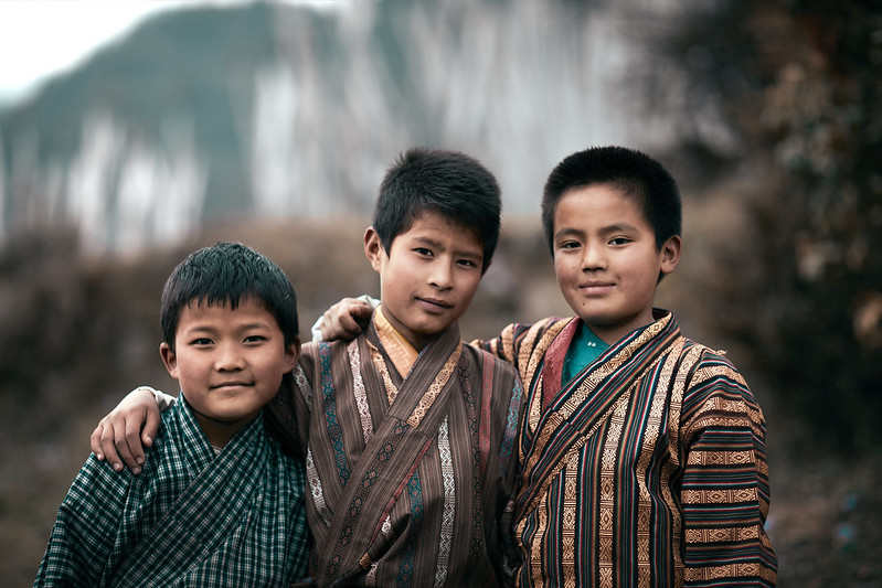 Bhutan: The Three Friends.