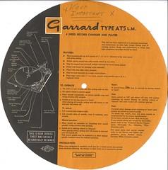 Garrard Model AT5 lm Instructions
