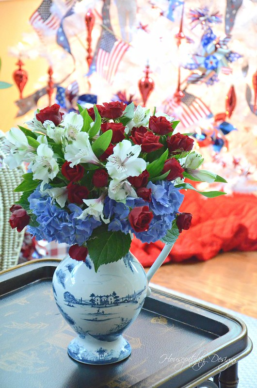 Patriotic Florals-Housepitality Designs