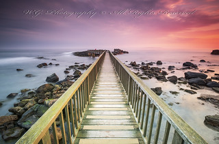 """Pan's Rock bridge in Ballycastle"""