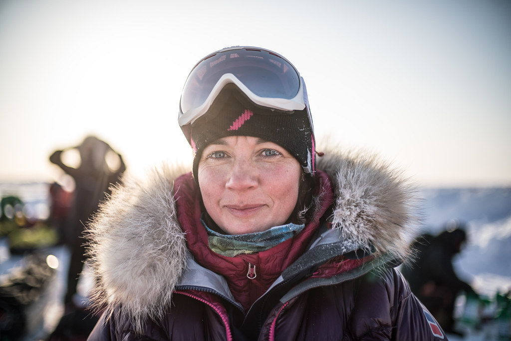 19. Olga  Rumyantseva on the ice at Barneo Polar Station Photo by Renan Ozturk