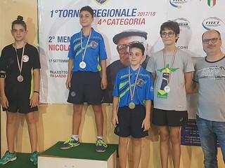 Il podio della fase regionale maschile del Trofeo Coni