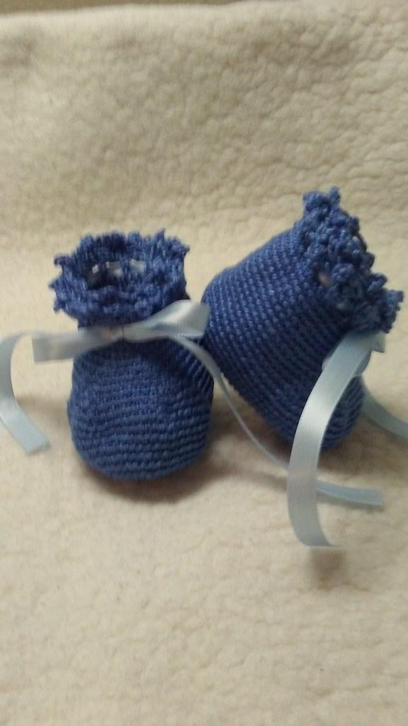 Handmade Crochet Babybooties Sale Booties Orgü Ganc Flickr