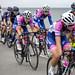 2018 OVO energy women's cycle tour; passing through Rhos on Sea