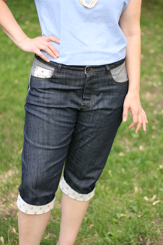 Knee-Length Morgan Boyfriend Jeans, or: Making Jeans Without Enough Denim
