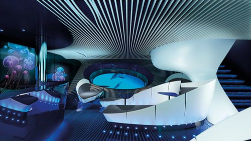 Multi-sensory underwater lounge