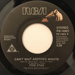 FIVE STAR:CAN'T WAIT ANOTHER MINUTE(LABEL SIDE-A)