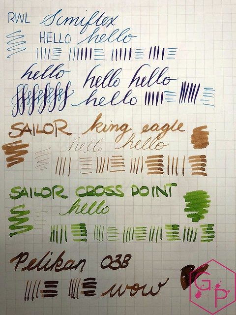 Serious Nibbage from Regalia Writing Labs - Flex, Broad, Wet Nibs 3