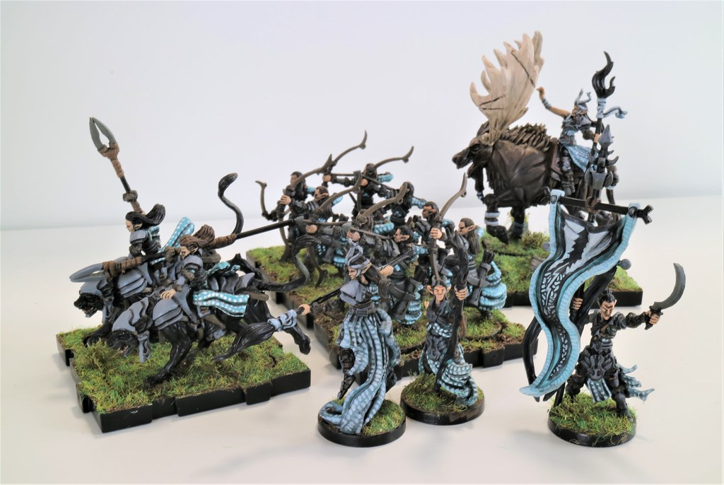Runewars Miniatures Latari Blue Spruce Units