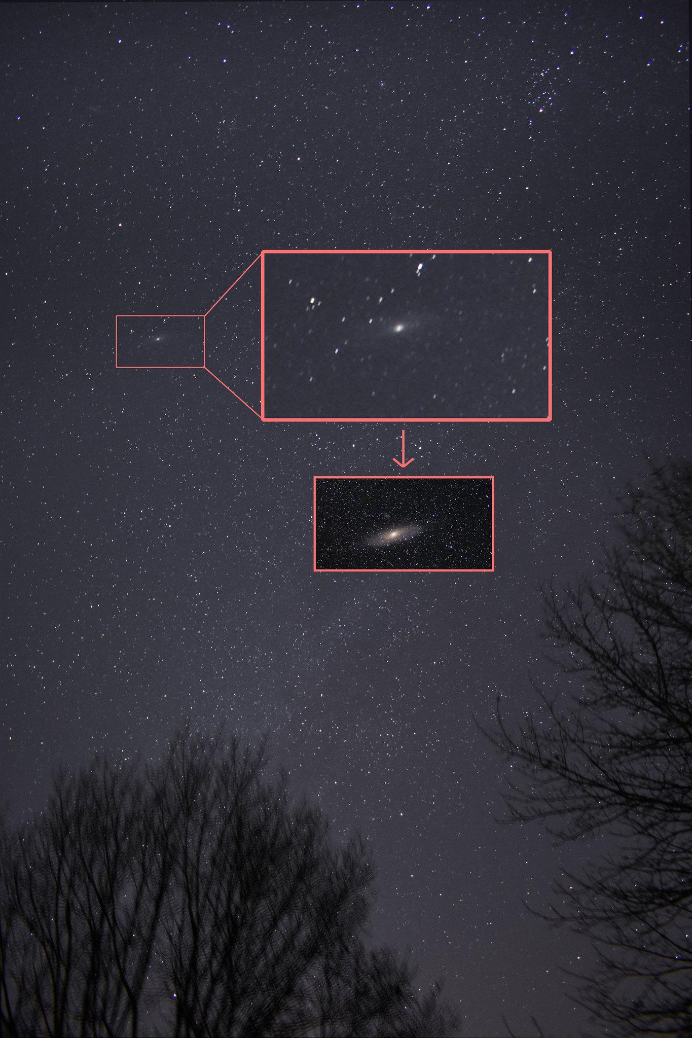 M31 in widefield - December '17