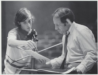 Fri, 06/08/2018 - 10:28am - Pierre Boulez leading an orchestra rehearsal with Kent/Blossom Music Festival students in Ludwig Recital Hall