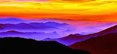 Misty Mountains Sunset
