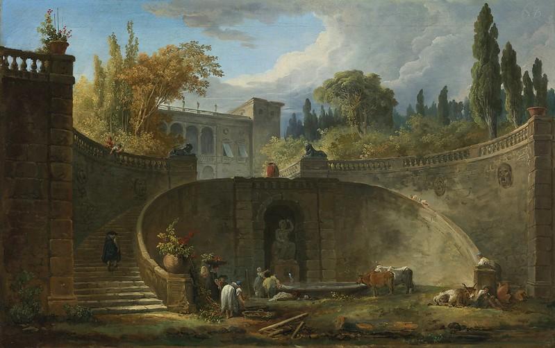 Hubert Robert - Villa Farnese with Gardens at Caprarola