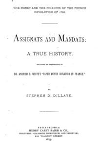 Assignats and Mandats boo cover