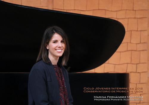 MARINA FERNÁNDEZ MARTÍNEZ, PROFESORA PIANISTA ACOMPAÑANTE - CICLO JÓVENES INTÉRPRETES 2018 - CONSERVATORIO DE LEÓN