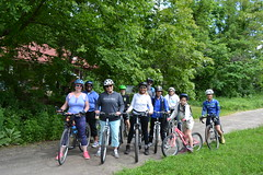 Rep. Ziobron leads a Trails Day bike ride with Airline Cycles of East Hampton