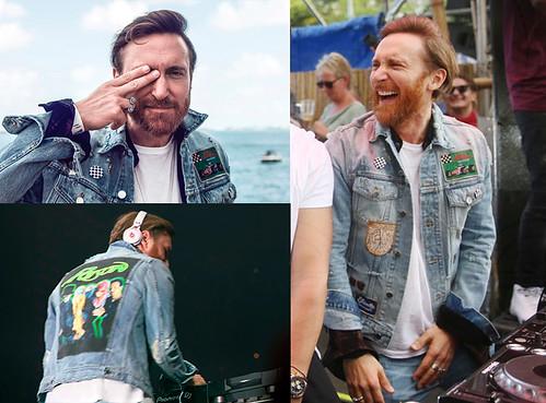 David Guetta con chaqueta con parches