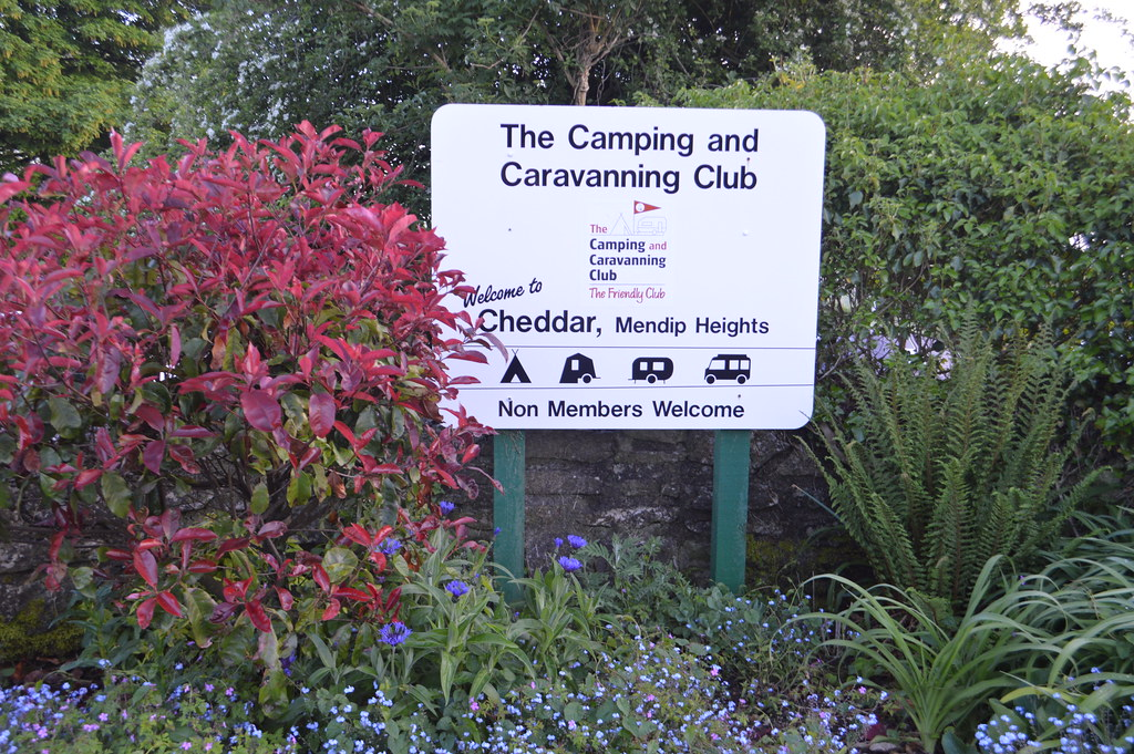 This is a picture of cheddar camping and caravan club site