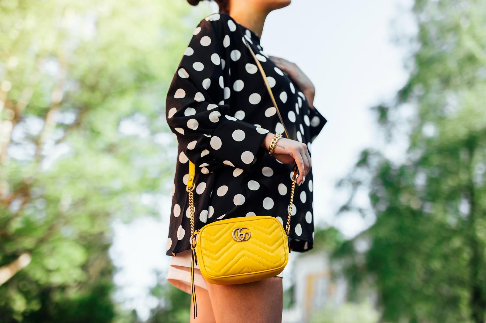 guccin keltainen laukku