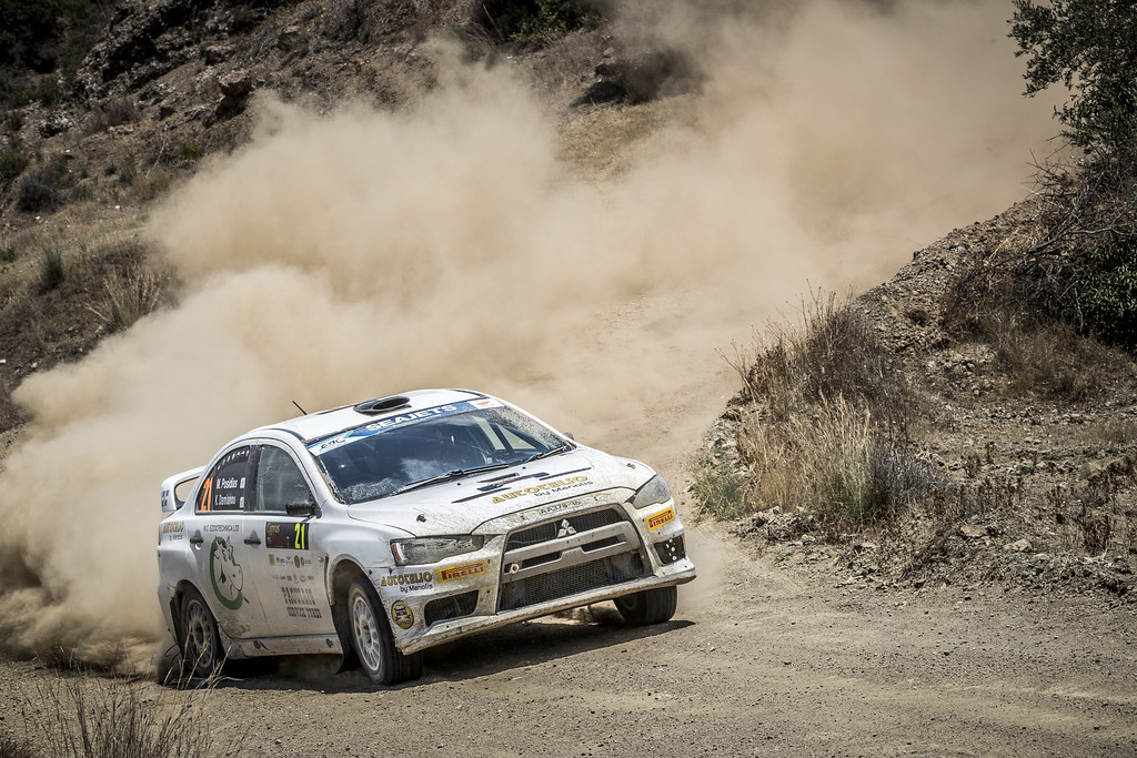 21 POSEDIAS Michalis (CYP), DAMIANOU Kyriacos (CYP), AUTOTELIO, MITSUBISHI LANCER EVO X, action during the 2018 European Rally Championship ERC Cyprus Rally,  from june 15 to 17  at Larnaca, Cyprus - Photo Gregory Lenormand / DPPI