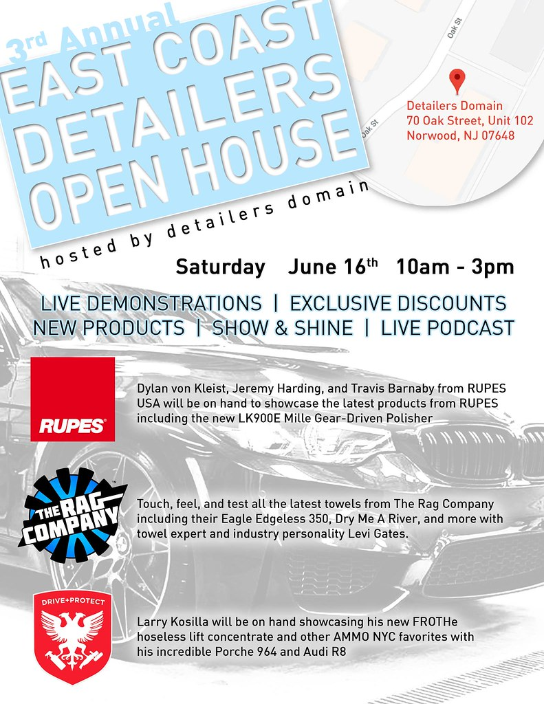 3rd Annual East Coast Detailers Open House with Rupes Ammo