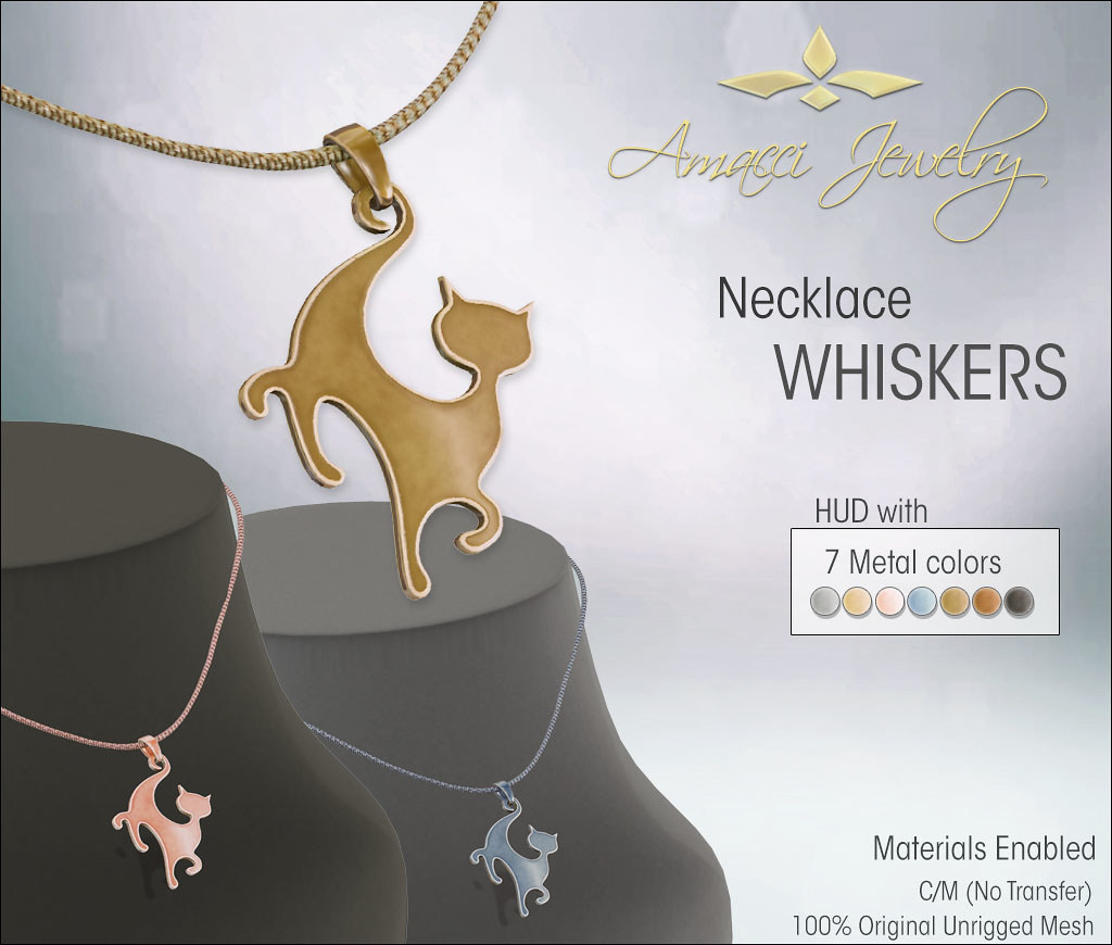 Amacci - Whiskers Necklace - TeleportHub.com Live!