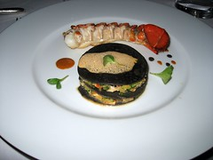 CHATEAU D'ETOGES, MENU GOURMANDE, LOBSTER TWO WAYS, CRUSTACEAN SAUCE 004 - Photo of Beaunay