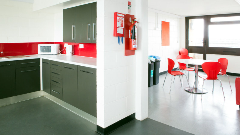 A shared kitchen in Norwood House