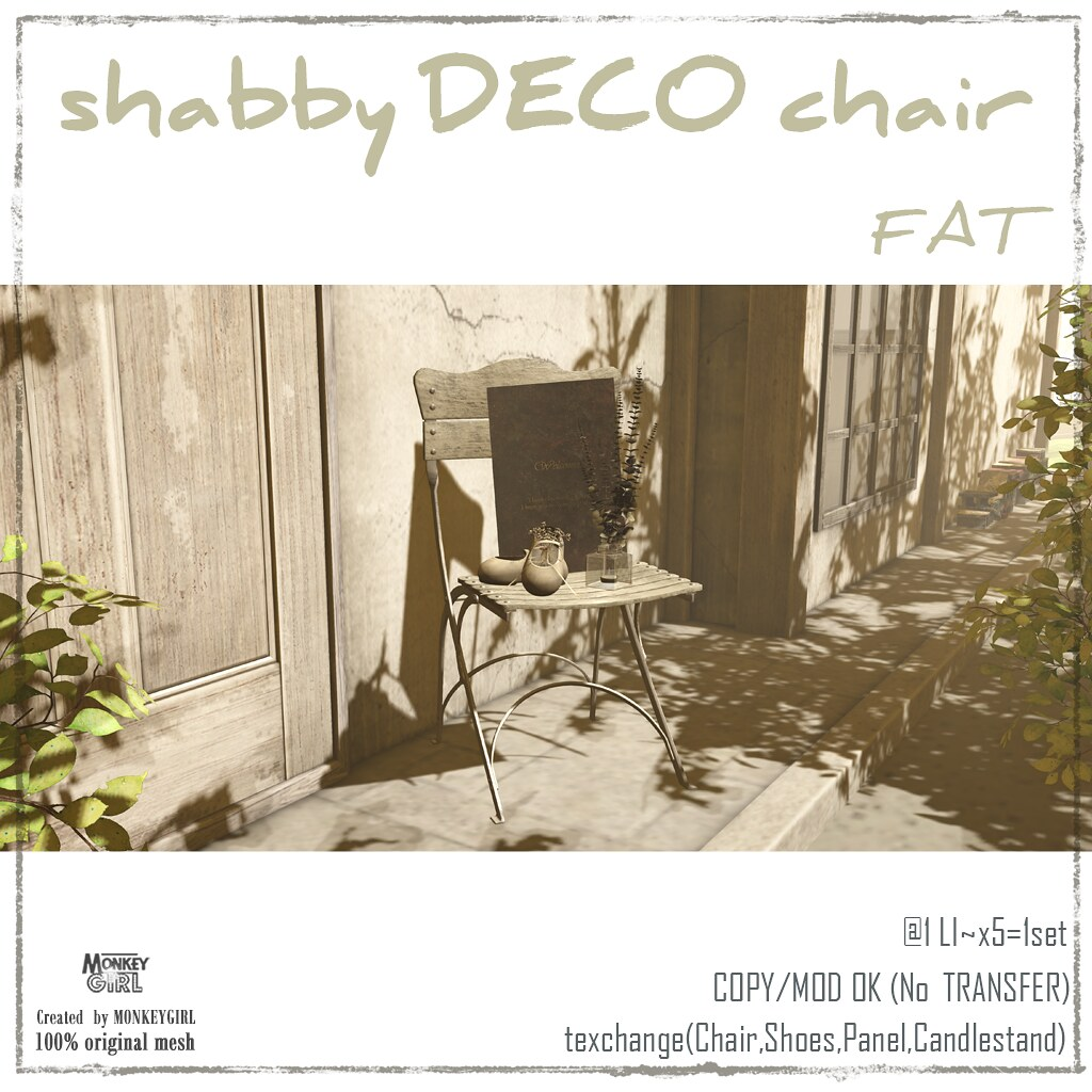 shabby DECO chair FAT - TeleportHub.com Live!