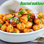 Roasted phool makhana chaat recipe