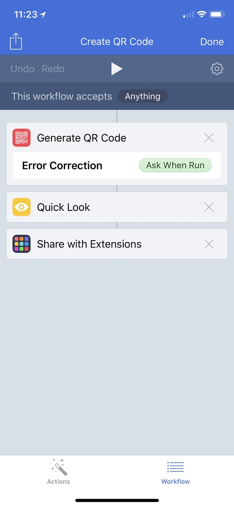 Workflow: Create QR Code