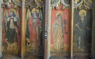 St Luke, St John, Sir John Schorne, St Julian (15th Century)