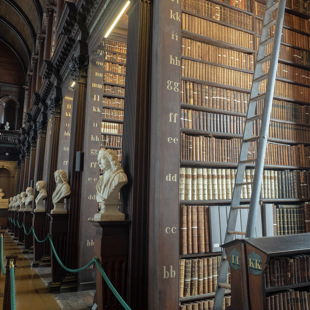 Long hall Trinity College library