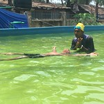 Boys learning to float - SwimSafe Cox