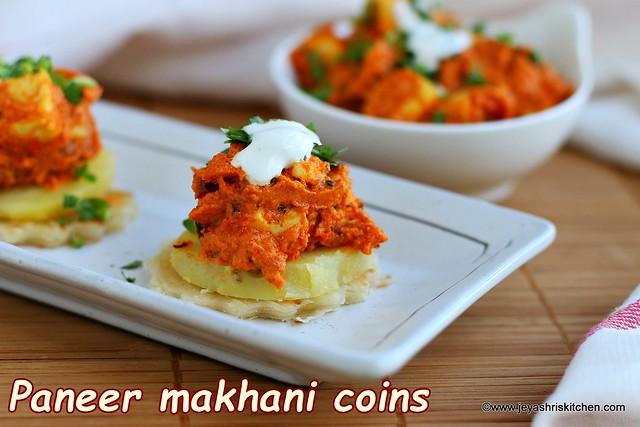 Paneer makhani coins