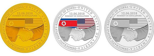 Singapore North Korea Summit commemorative coins