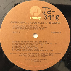 CANNONBALL ADDERLEY:BIG MAN - THE LEGEND OF JOHN HENRY(LABEL SIDE-C)
