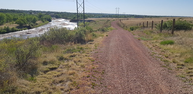 Thu, 05/31/2018 - 08:53 - Fountain regional path, gravel beginning to get dicey for 100 lbs of touring bike