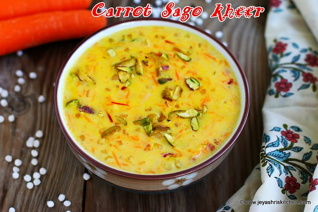 Carrot sago payasam