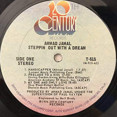 AHAMAD JAMAL:STEPPIN OUT WITH A DREAM(LABEL SIDE-A)
