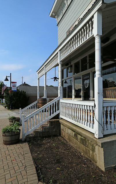 Porch, IOOF Building — Powell, Ohio