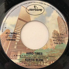 KURTIS BLOW:HARD TIMES(LABEL SIDE-A)