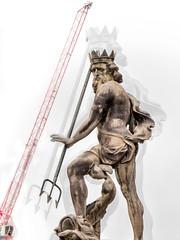Neptune statue in Durham.