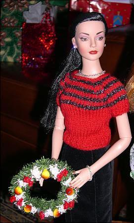 Sydney in Gerda striped sweater