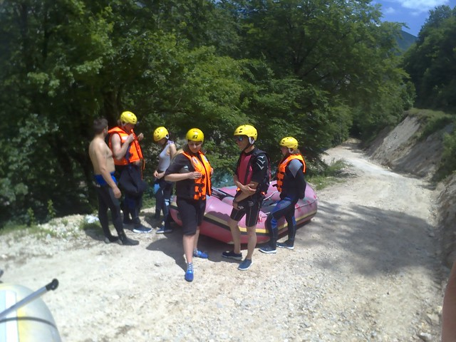 Neretva river rapids raft