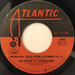 THE BRIDES OF FUNKENSTEIN:NEVER BUY TEXAS FROM A COWBOY(LABEL SIDE-B)